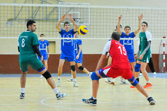 VC Dnipro – VC Vinnitsa. Ukrainian Cup in volleyball Royalty Free Stock Photo
