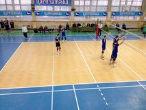 VC Novator – VC Dnipro. Ukrainian Cup in volleyball Stock Photography