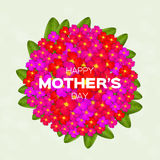 VColorful Floral Greeting card - International Happy Mothers Day with Bunch of Spring Flowers. Royalty Free Stock Photo
