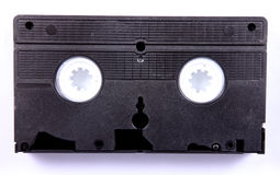 Vcr. Black vcr cassette over white background. Old Technology Stock Image