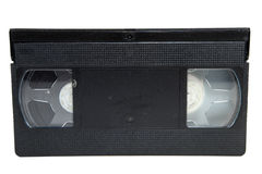 VCR Tape. Video cassette tape against a white background Stock Photography