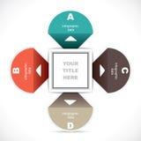 Infographics educacional criativo Imagens de Stock Royalty Free