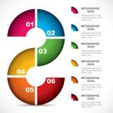 Infographics educativo creativo Fotografie Stock Libere da Diritti
