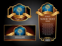 Vctor luxury labels Royalty Free Stock Image