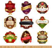 Vctor luxury labels Stock Photo