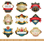 Vctor luxury labels Stock Images