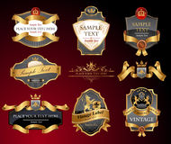 Vctor luxury labels Stock Image