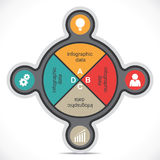 Infographics creativo Fotografie Stock
