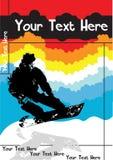 Vctoraffiche van Snowboard Stock Foto's
