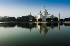 Vctoria Memorial, Kolkata , India - reflection on water. Victoria Memorial, Kolkata , India - reflection on water. A Historical Monument of Indian Architecture Royalty Free Stock Images