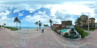 Vídeo de Florida 360 da praia de Hollywood video estoque