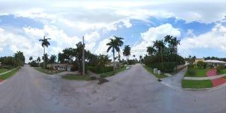 vídeo de 360 vr de vizinhanças de Hollywood Florida filme