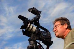 Vídeo del shooting del cameraman Foto de archivo libre de regalías