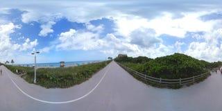 Vídeo 360 esférico da praia de Hollywood filme