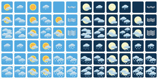 väder för sun för oklarhetssymbolsregn Arkivbilder