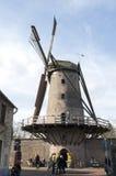 Väderkvarn Kriemhildemuhle, stad Xanten, Tyskland Arkivfoton