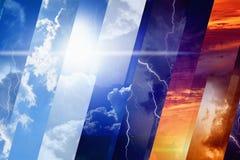 Väderprognosbegrepp Arkivfoton