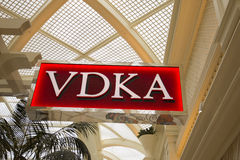 The VDKA sign at the Encore hotel in Las Vegas, Nevada. Stock Image