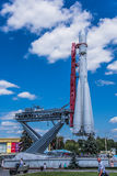 VDNH. Exhibition of achievements of national resources. Moscow. Summer. Rocket. Royalty Free Stock Images