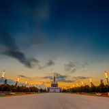 VDNH, park and exhibition center at evening Stock Image