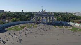 VDNKh Main Pavilion stock video footage