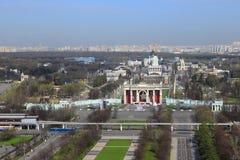 VDNKH powystawowy centrum wewnątrz może dzień w Moskwa Zdjęcia Stock