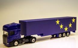 Veículo de bens pesados de Brexit imagens de stock