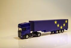 Veículo de bens pesados de Brexit foto de stock