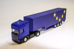 Veículo de bens pesados de Brexit fotografia de stock
