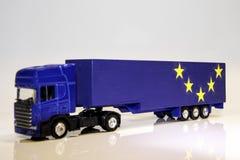 Veículo de bens pesados de Brexit foto de stock royalty free