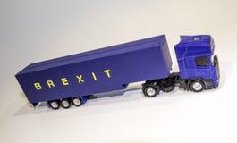 Veículo de bens pesados de Brexit imagem de stock royalty free