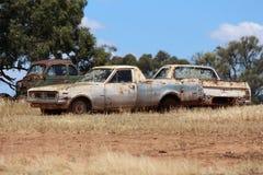 Veículo abandonado retro imagens de stock