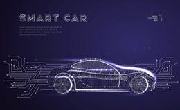 Veículo autônomo do carro ilustração royalty free