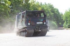 Veículo blindado de transporte de pessoal alemão Bandvagn 206 imagem de stock royalty free