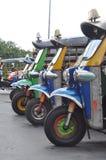 Veículo com rodas Tailândia de Tuk Tuk três fotografia de stock royalty free