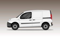 Veículo comercial branco fotografia de stock