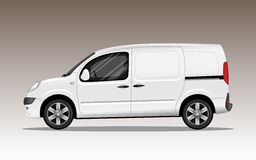 Veículo comercial branco com rodas da liga fotos de stock