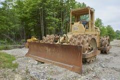 Veículo da construção para pavimentar fotografia de stock