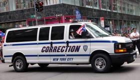 Veículo da correção de NY na parada porto-riquenha do dia Imagens de Stock Royalty Free