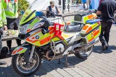 Veículo da emergência da bicicleta do sangue imagens de stock