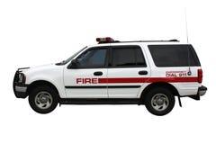 Veículo da emergência do incêndio isolado Imagens de Stock