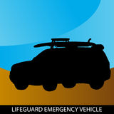 Veículo da emergência do Lifeguard Imagem de Stock Royalty Free