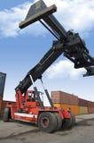 Veículo de carga na ação cheia Fotografia de Stock Royalty Free