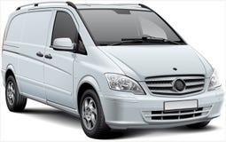 Veículo de entrega branco Imagem de Stock Royalty Free