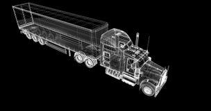 Veículo de entrega da carga Imagem de Stock