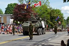 Veículo de exército na parada Fotos de Stock