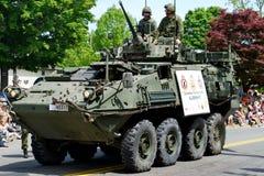 Veículo de exército na parada Foto de Stock Royalty Free