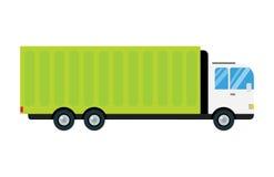 Veículo de transporte por caminhão do frete do negócio da entrega do transporte do reboque do carro da ilustração do vetor do cam ilustração stock