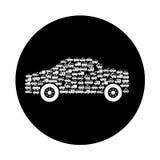 Veículo do carro com silhueta dos veículos ilustração do vetor
