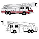 Veículo do carro de bombeiros Imagens de Stock Royalty Free